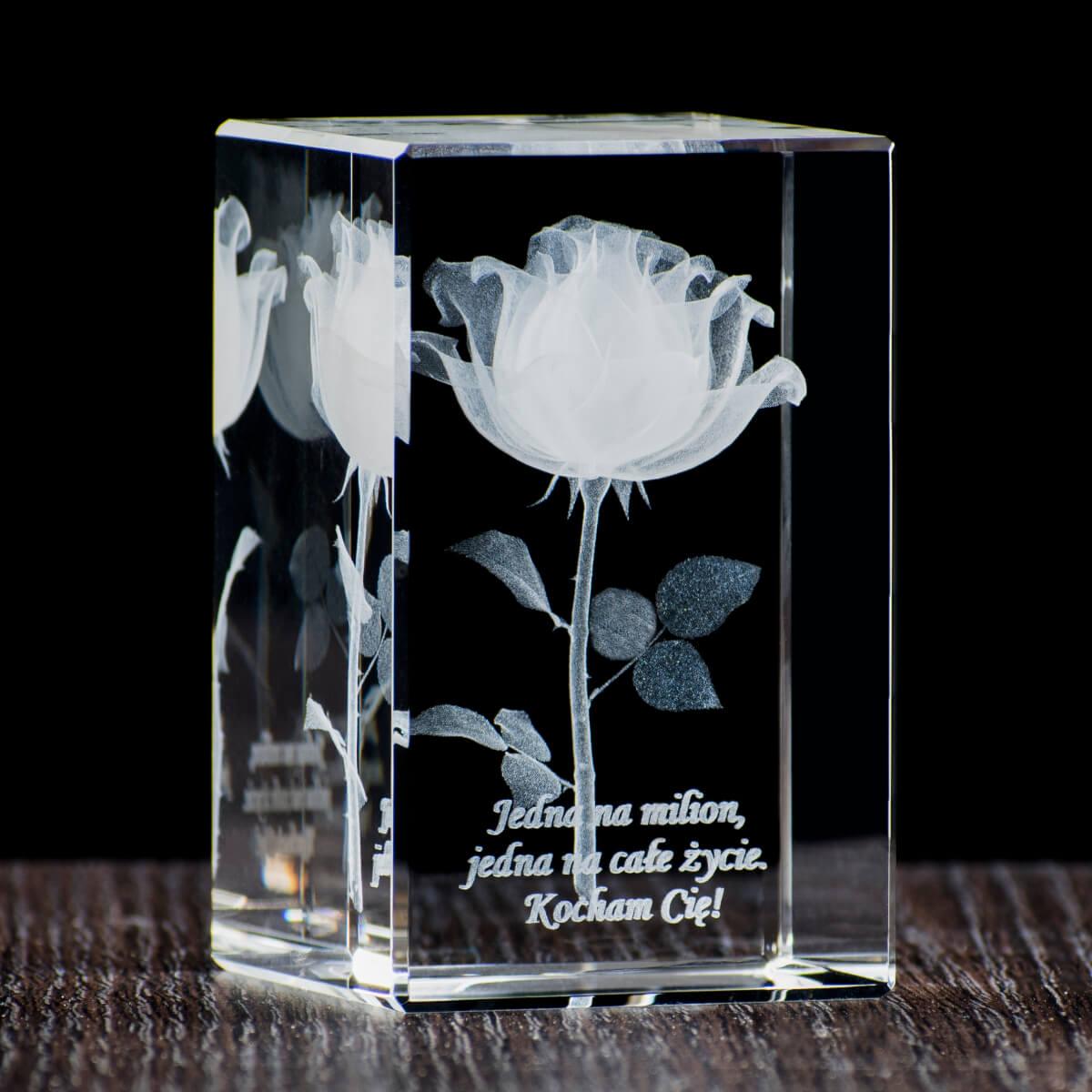 róża w krysztale