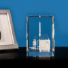 Instalacja 3D, upominek firmowy w krysztale
