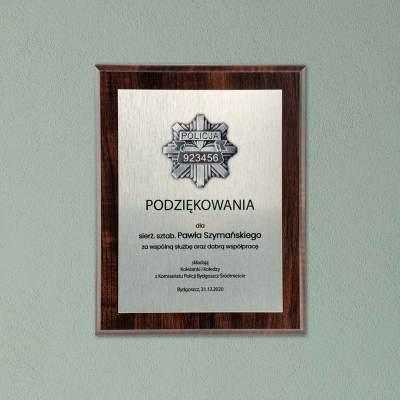 Podziękowania dla policjanta - dyplom