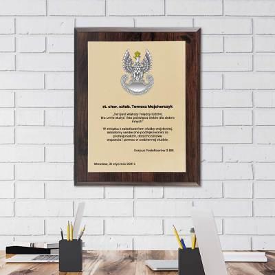 Podziękowanie dla żołnierza - dyplom