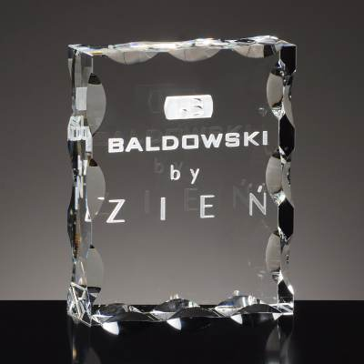 Statuetka firmowa - GRAWER w krysztale