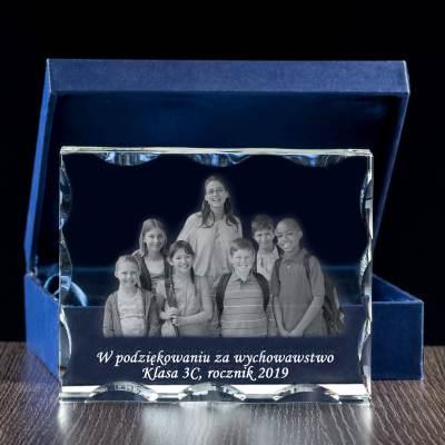 Zdjęcie klasowe w szkle Statuetka 3D