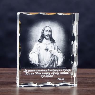 Pamiątka święceń kapłańskich - zdjęcie 3D w szkle
