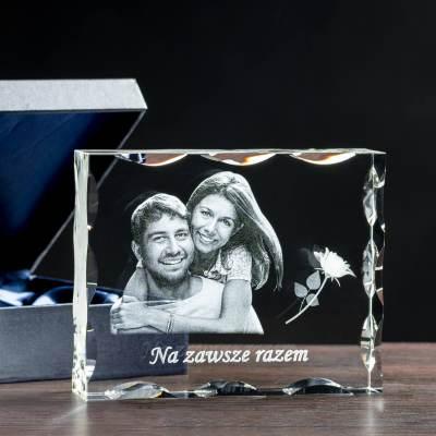 Statuetka na prezent zdjęcie w krysztale