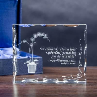 storczyk 3D w krysztale