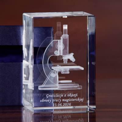 Mikroskop 3D statuetka