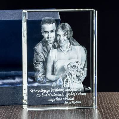 Zdjęcie w krysztale prezent na Dzień Kobiet