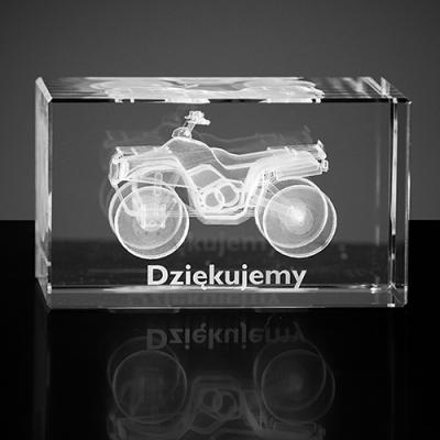 Quad - model 3D. Personalizowana statuetka ze szkła
