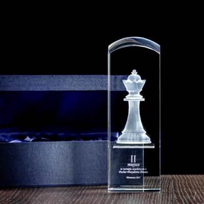 Nagroda za zdobycie II miejsca, pionek 3D w krysztale