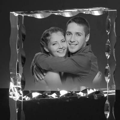 Zdjęcie wygrawerowane w krysztale na prezent