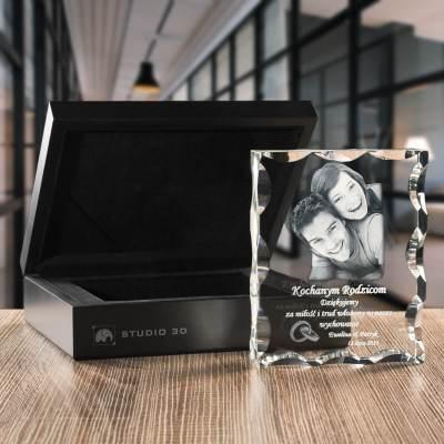 -PREMIUM- Personalizowany prezent, Trójwymiarowe zdjęcie w kryształowej statuetce