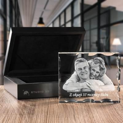 -PREMIUM- Zdjęcie na rocznice ślubu, grawerowane zdjęcie w krysztale