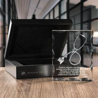 -PREMIUM- Prezent dla lekarza, trójwymiarowy stetoskop w krysztale