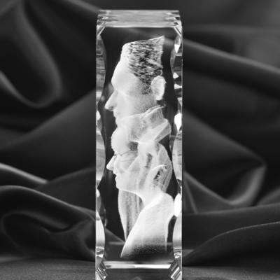 Walentynkowy kryształ, zdjęcie 3D