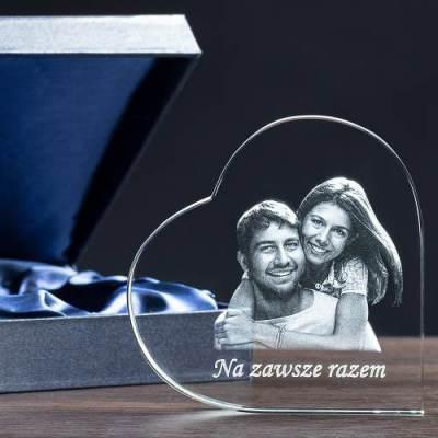 Prezent z miłości - zdjęcie w krysztale Serce
