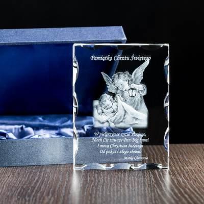 Pamiątka Chrztu 3D w krysztale od Matki Chrzestnej - FOTOPREZENT