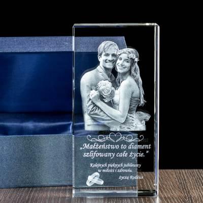 Zdjęcie 3D dla 2 popiersi 2 osób - GRAWER w krysztale