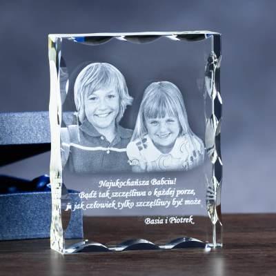 zdjęcie w krysztale dla babci