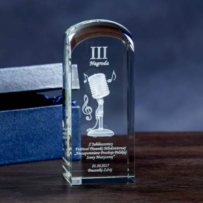Statuetka konkursowa - mikrofon 3D