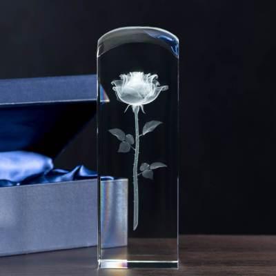 Prezent na ślub - Róża 3D z dedykacją w średniej kolumnie