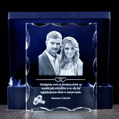 Zdjęcie 2D ślubne podziękowania w krysztale