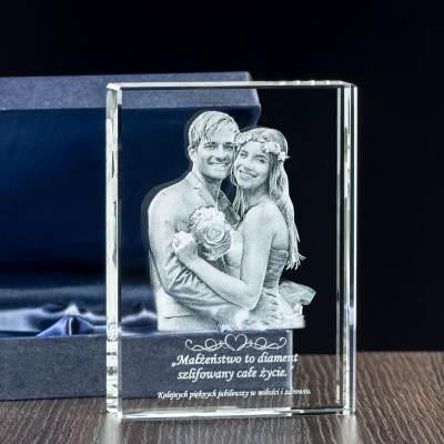 Kryształowy komplet jako podziękowania dla rodziców