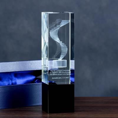 Statuetka na promocję produktu z trójwymiarowym motywem graficznym