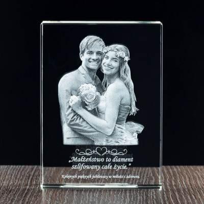Prezent na rocznicę ślubu, lub jako prezent ślubny - grawerowany kryształ