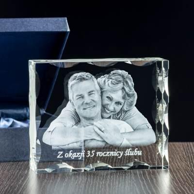 Zdjęcie w krysztale na rocznicę