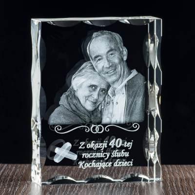 Kryształ lux ze zdjęciem oraz dedykacją