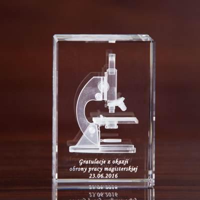 Mikroskop 3D - statuetka na podziękowania