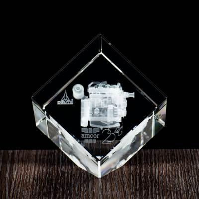 Silnik 3D - statuetka na jubileusz firmy