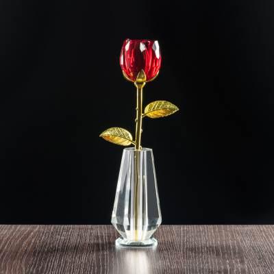 Kryształowa róża na walentynki, dla niej