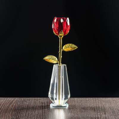 Róża z kryształu jako prezent dla mamy