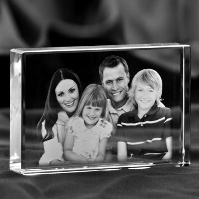 Zdjęcie rodzinne 2D w szkle, statuetka Płyta płaska