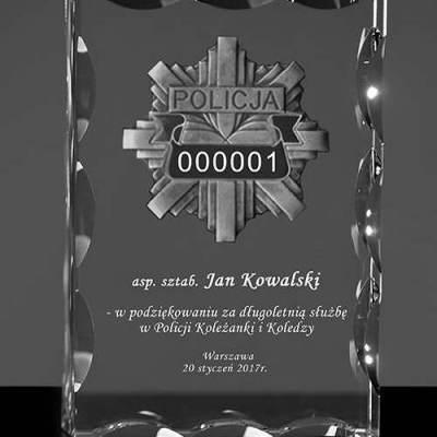 Podziekowanie dla Policjanta - odznaka policyjna z numerem