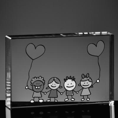 Dzień Dziecka - zdjęcie w krysztale, pamiątka