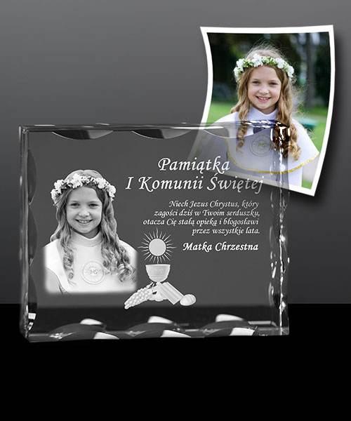 Pamiątka I Komunii Św. - zdjęcie w krysztale