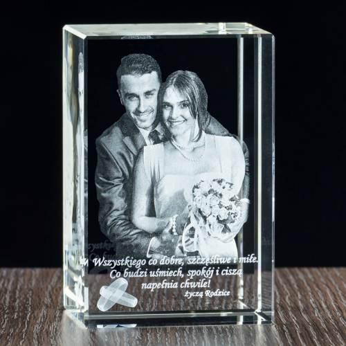 Zdjęcie 2D - statuetka szklana