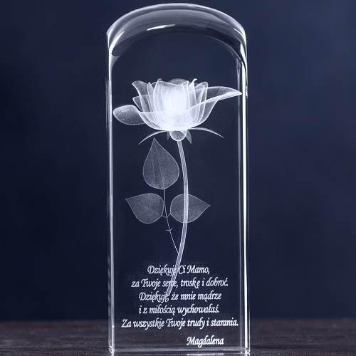 Grawerowany kwiat 3d dla mamy