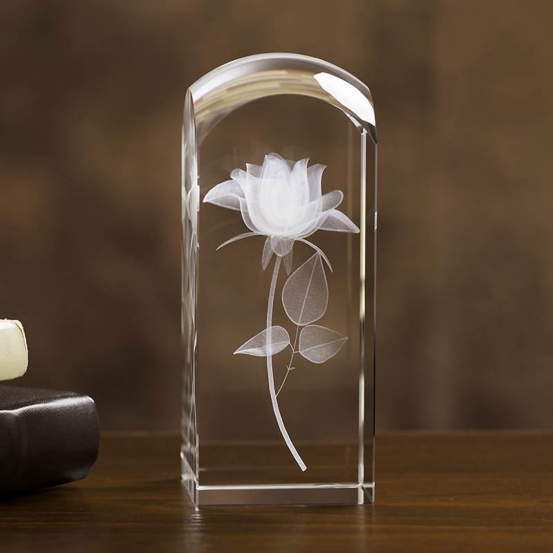 Róża 3D statuetka dla nauczyciela