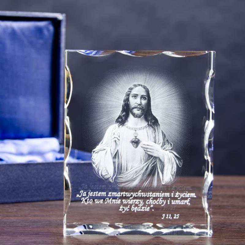 Fotokryształ 3D Zdjęcie Jezusa