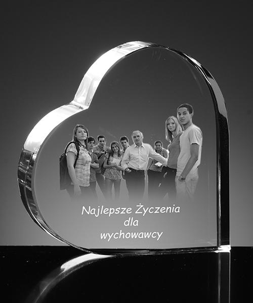 Grupowe zdjęcie w kryształowym sercu