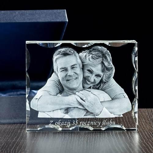 Trójwymiarowe zdjęcie w krysztale ozdobnym