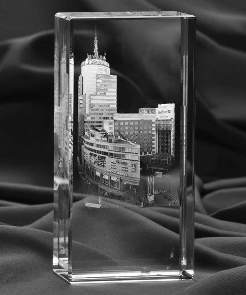 Zdjęcie 3D miasta w krysztale