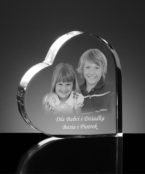 Prezent od wnuków - statuetka z kryształu