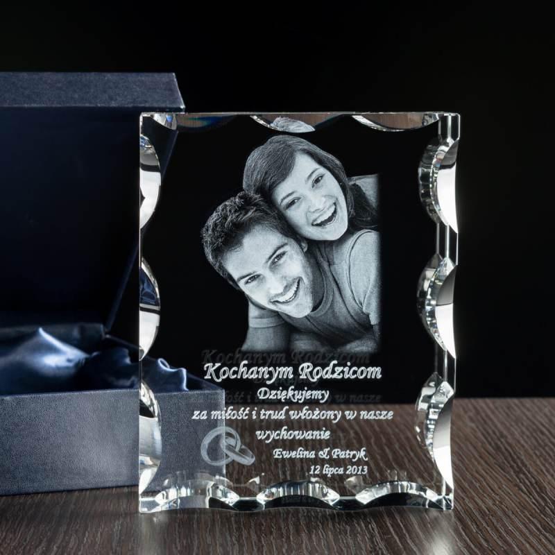 Zdjęcie 3D nowożeńców w krysztale