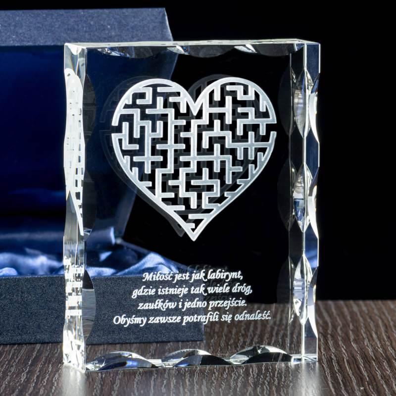 Labirynt miłości zjawiskowy grawer w krysztale