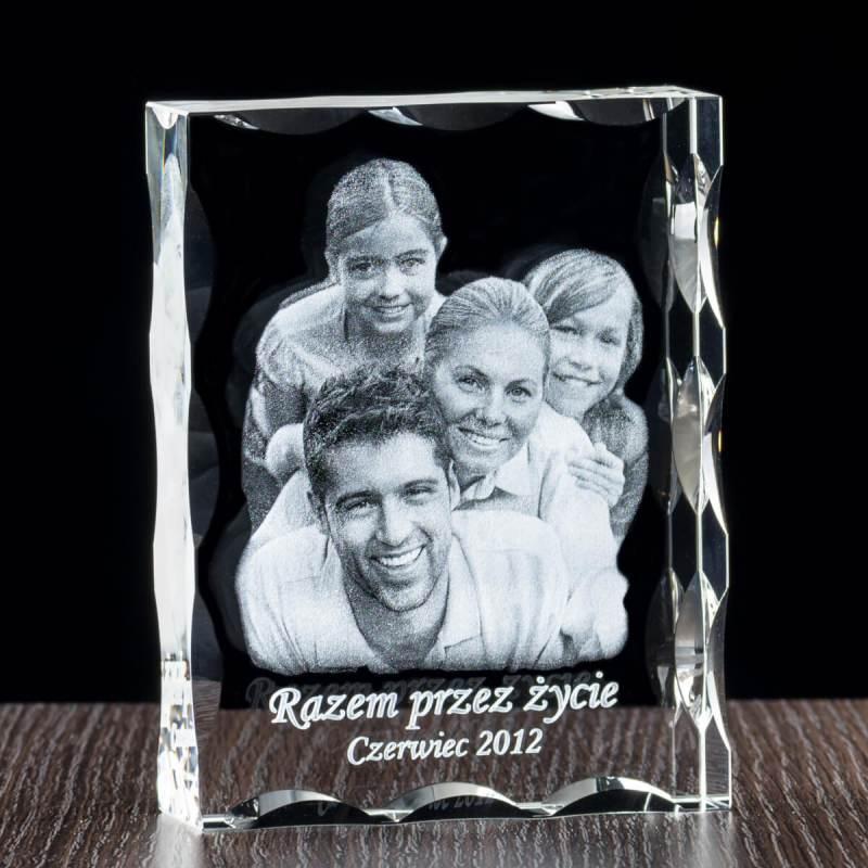 Zdjęcie w krysztale w ozdobnym krysztale