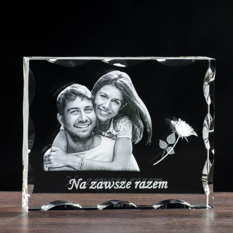 Zdjęcie małżeństwa w krysztale